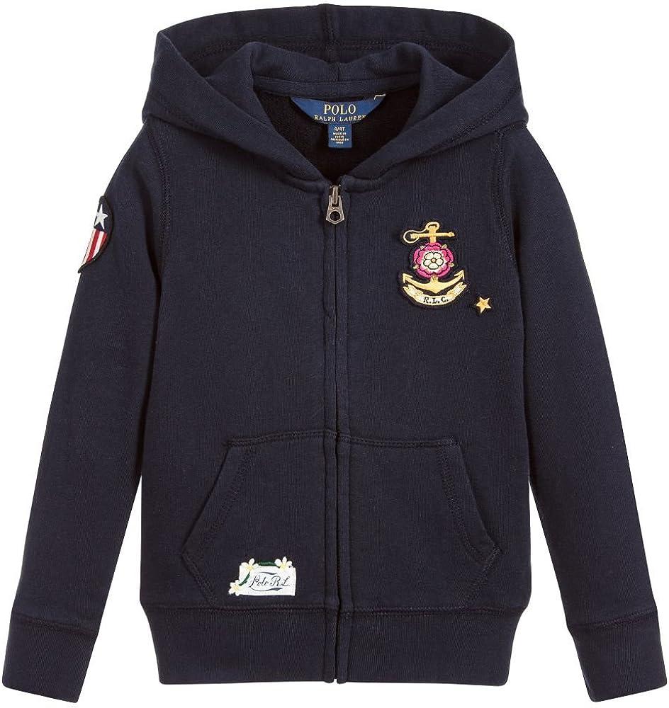 ac376b56 Polo Girls Patchwork French Terry Hoodie Sweatshirt