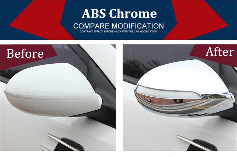 baodiparts 2 Pcs ABS Chrome Miroir De Voiture R/étroviseur Couverture Garnitures Rain Wing Miroir Protecteur Remplacer Capuchon De Couverture