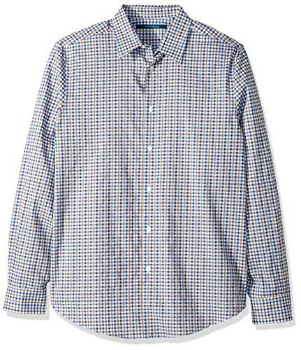 Multicolour Check (Perry Ellis Men's Long Sleeve Multi Color Check Shirt, Monaco Blue-4CHW4031, Extra Extra Large)