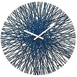 Koziol Silk Wall Clock, Velvet Blue