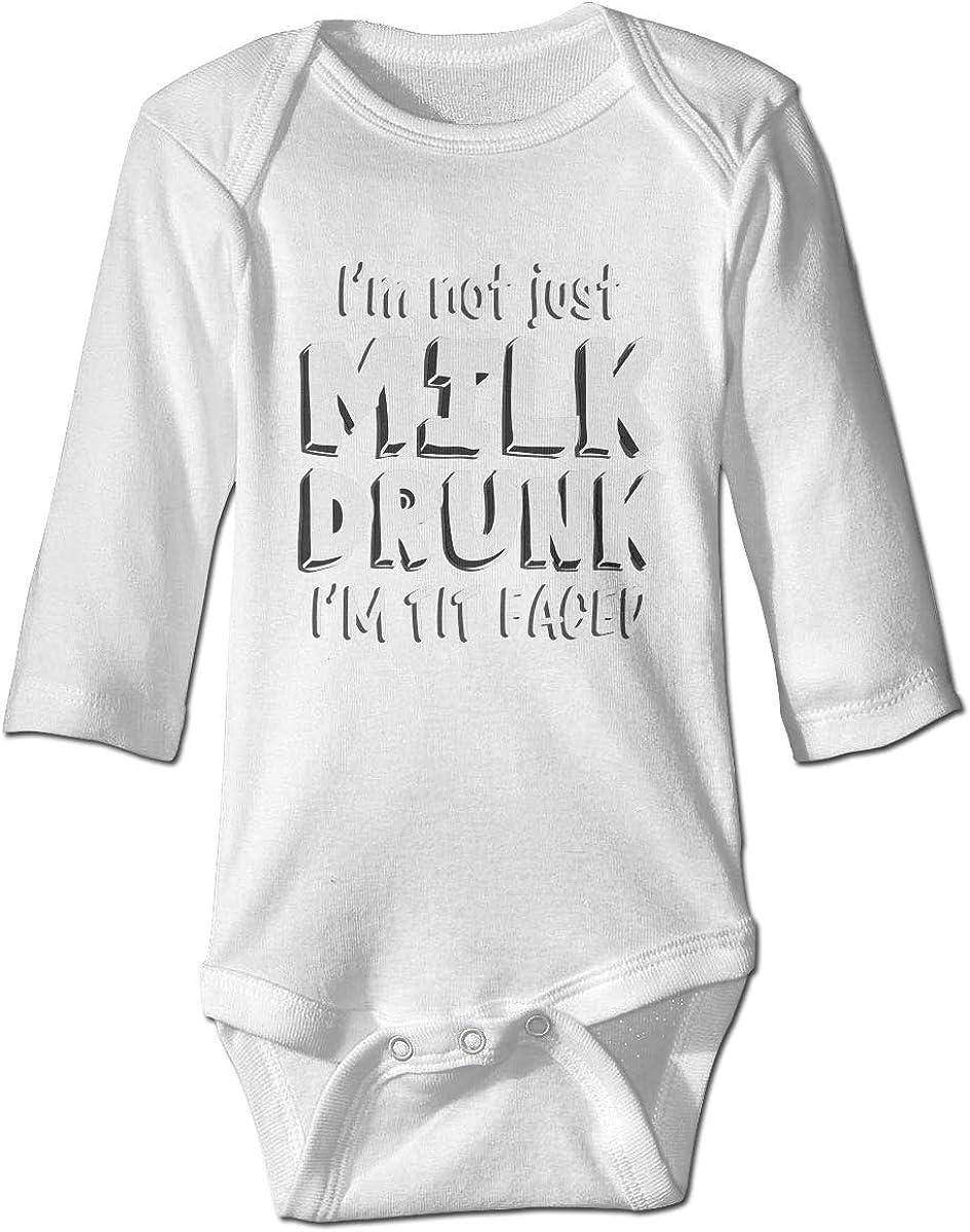 HELLOWI Im Not Just Milk Drunk Baby Boys Bodysuit Gap Fashion Romper Clothing