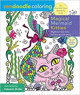 Amazon Zendoodle Coloring Magical Mermaid Kitties Mythical Sea Cats To Color And Display 9781250141569 Deborah Muller Books