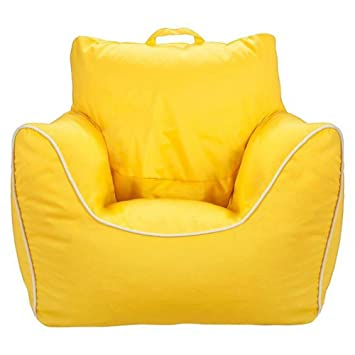 Circo Bean Bag Chair With Removable Cover Piping Yellow