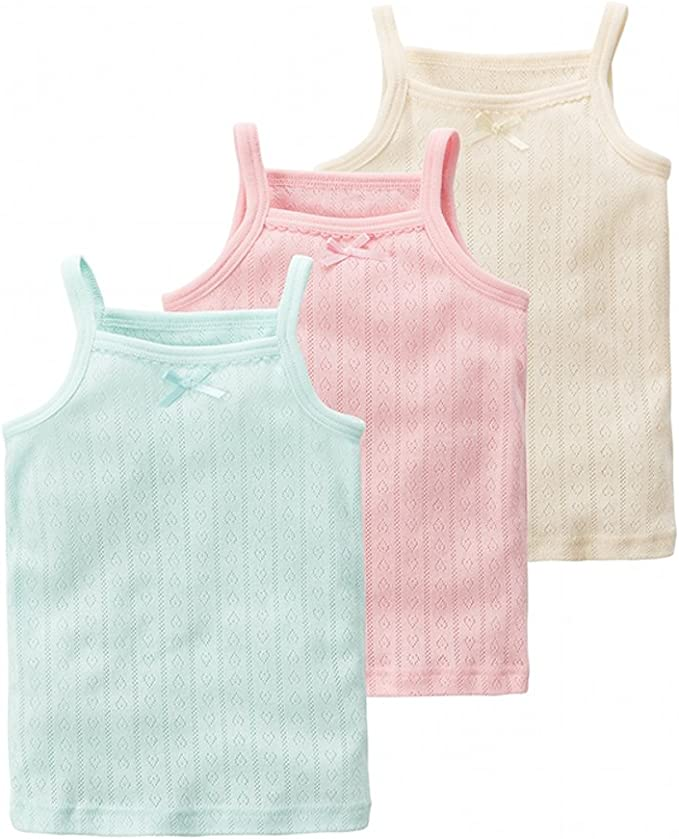 GLEAMING GRAIN Toddler Undershirts Kids Tank Tops//Tagless Cami Super Soft Breathable Combed Cotton for Toddler Kids