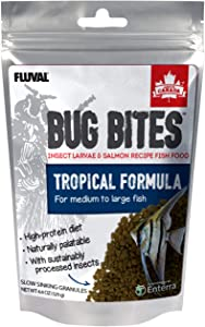 Fluval Bug Bites Tropical Fish Food, Small Granules for Small to Medium Sized Fish