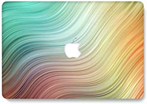 MacBook Air Retina 13 Inch Case (2018 Release) Model A1932, AQYLQ Matt Plastic Hard Shell Cover for Apple MacBook Air 13 Inch with Retina Display fits Touch ID, 732 Green & Orange