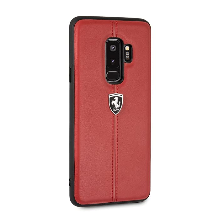 los angeles 3f544 5e57a Ferrari Samsung Galaxy S9 Plus Case - by CG Mobile - Red Cell Phone Case  Genuine Leather | Easily Accessible Ports | Officially licensed.