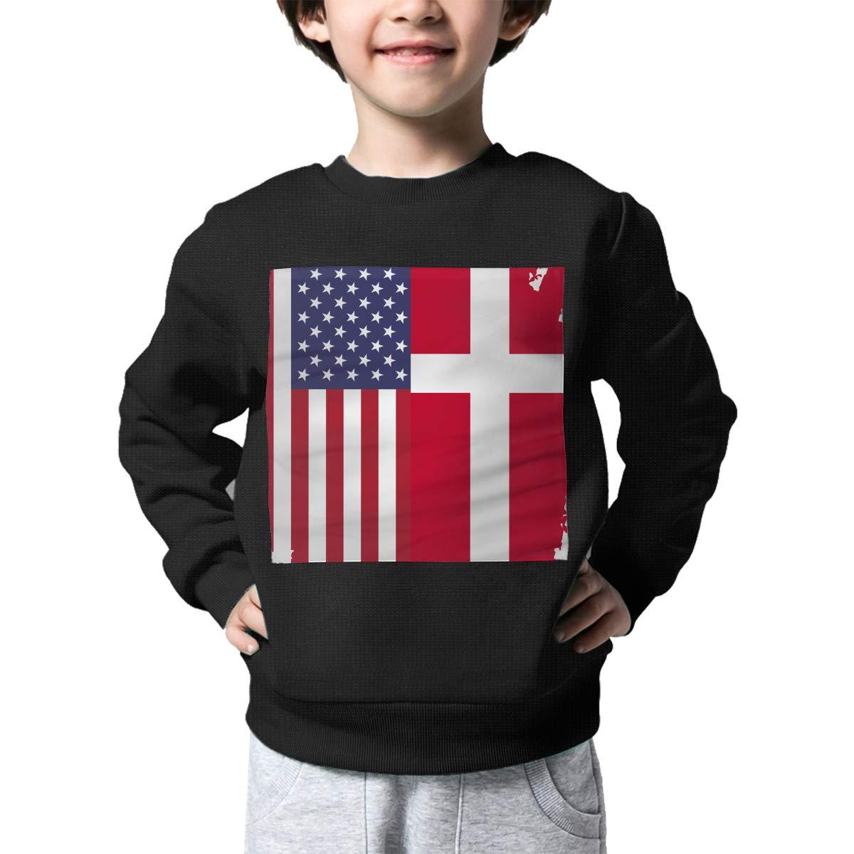 NJKM5MJ Boys Girls American Denmark Flag Lovely Sweaters Soft Warm Childrens Sweater
