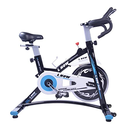 L NOW Indoor Spin Bike Stationary Indoor Cycling Quiet and Smooth with Tablet Holder D6001