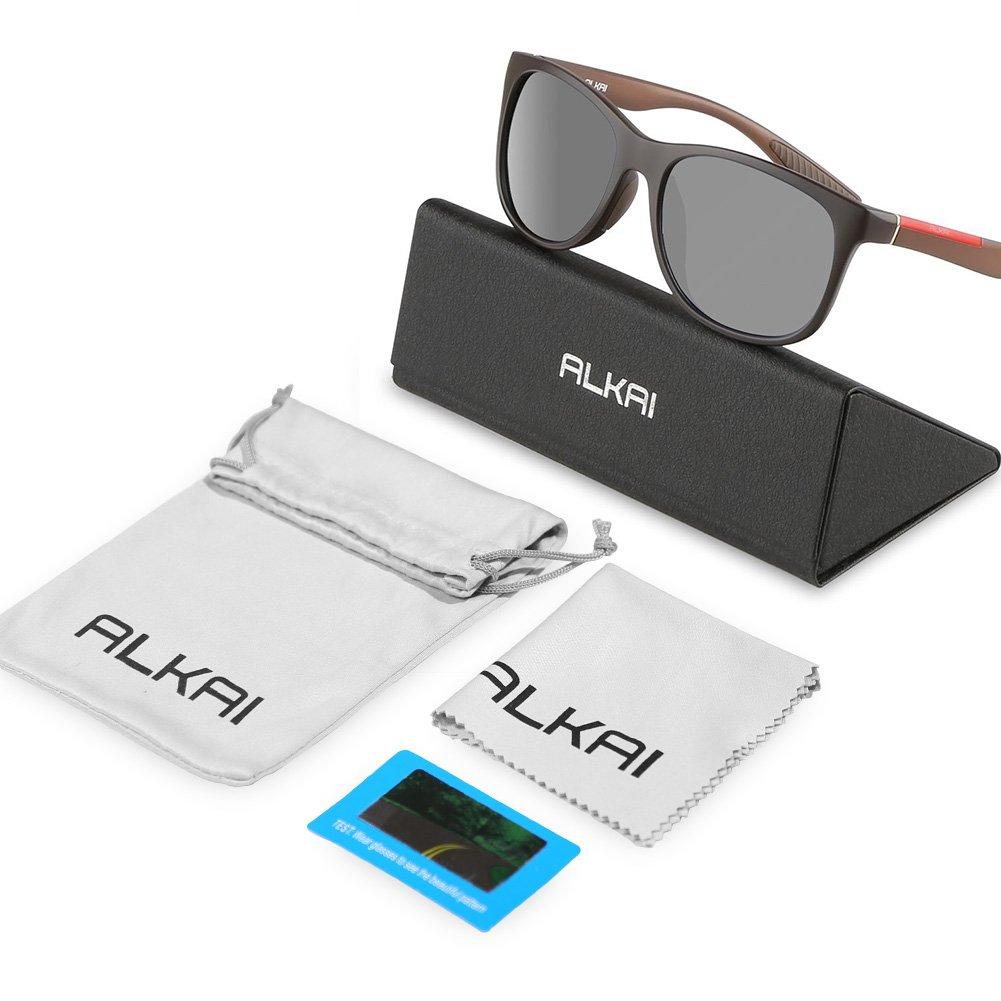 ALKAI Polarized Sports Sunglasses for Men Women Phoenix Cycling Sunglasses for Golfing Driving Running Fishing,100/% UV400 Protection Ultralight