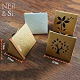 Lavenz Kraft Paper Hollow Box Butterfly knot closure Gift Handmade Soap Package Window Boxes Emboss Tree Flower