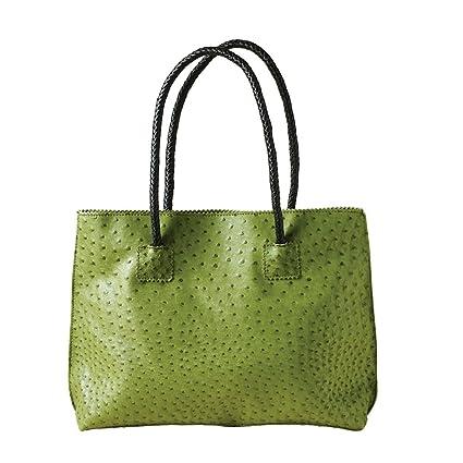 845c172bbcf8 Amazon.com  Women s Vegan Ostrich Tote Bag - Zip Close Handbag - 20