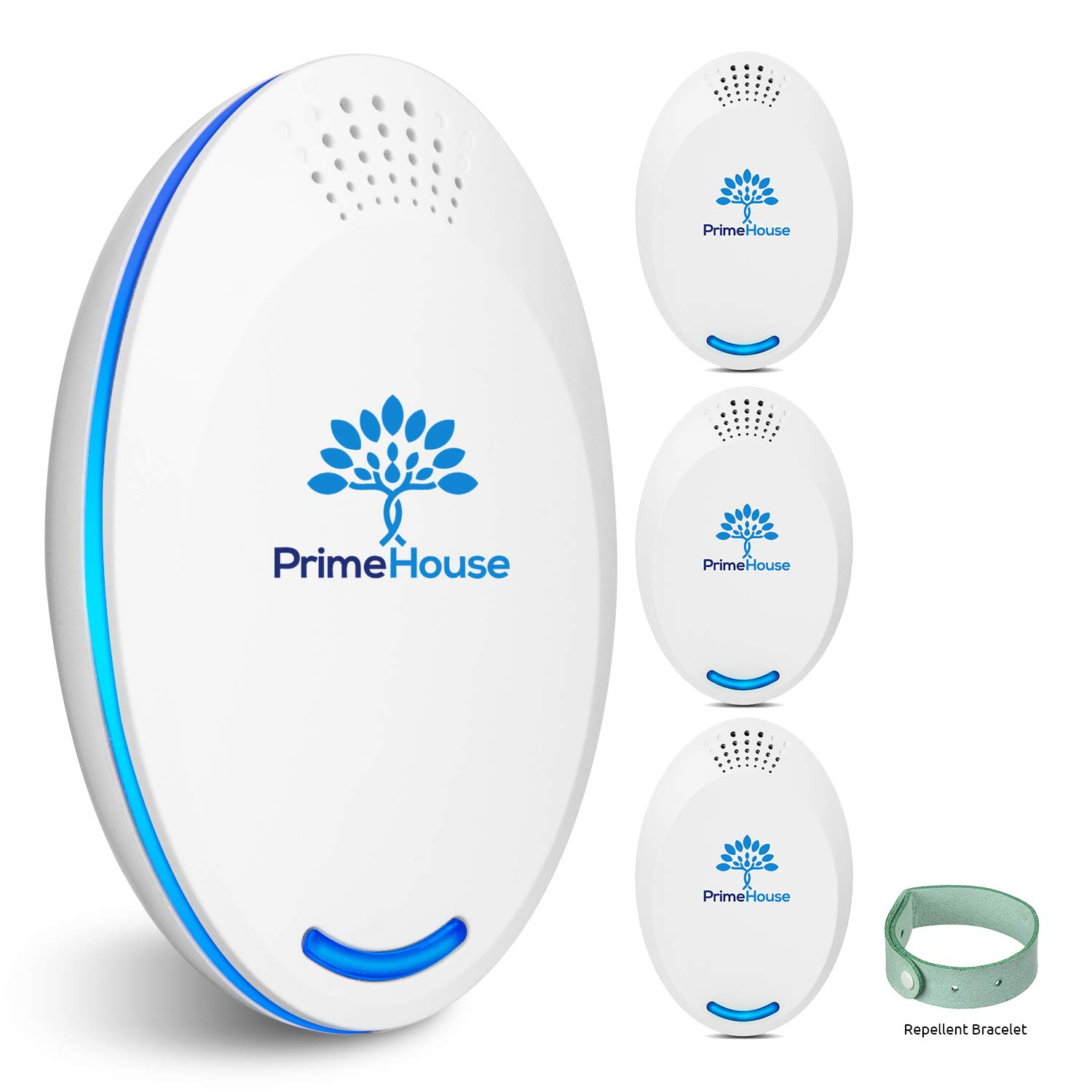 Ultrasonic Pest Repeller Plug in | Spider Repellent | Pest Reject | Pest Control | Indoor Electronic Repellers for Mice, Mouse, Rodent, Squirrel, Roach, Insect, Rat, Bug | Pack of 4 by Prime House