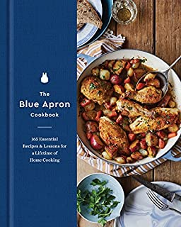 Book Cover: The Blue Apron Cookbook: 165 Essential Recipes and Lessons for a Lifetime of Home Cooking