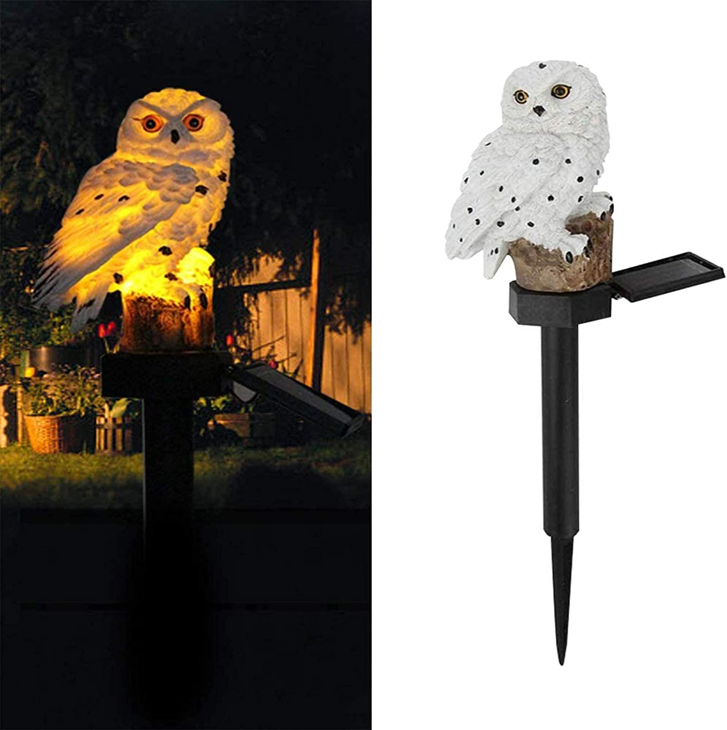 Aongch Owl Solar LED Lights, Garden Solar Lights Outdoor Decorative Garden Waterproof Decorative with Stake for Outdoor Yard Pathway Outside Patio Lawn Decor Scare Birds Away