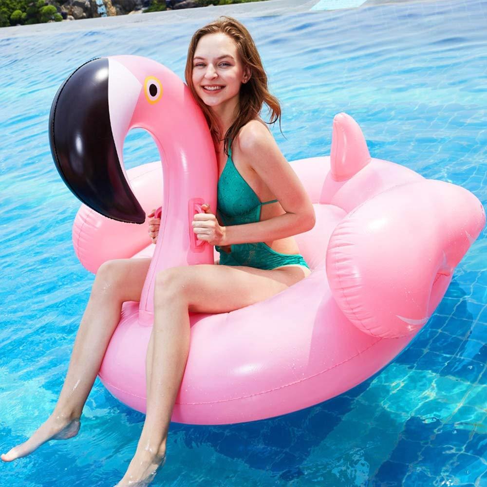 ビーチビーチプールビーチインフレータブル大人フローティングベッド、夏ピンクフラミンゴフローティング行、ソファ水泳リング水のおもちゃラウンジチェア140 * 130 * 105センチ 綺麗な