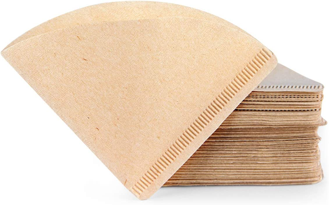 Coffee Filters Cone, 120 Count #2 Natural V60 Unbleached Paper Disposable Filter Pour über Dripper