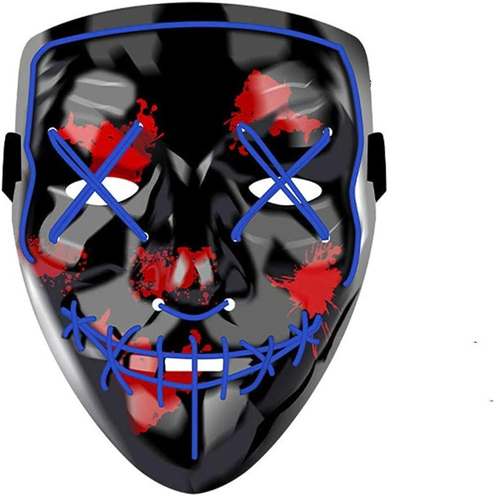 Halloween Scary Mask,LED Light Up Purge Mask,Co-splay Costume Mask for Festival