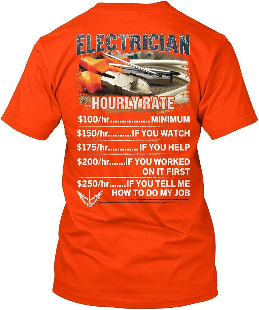 Electricians Hourly Rate T-Shirt - Hanes Tagless Tee 61GTNVXU4XL