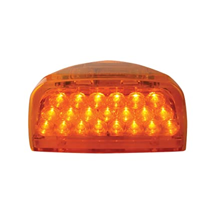 Grand General 77230 Amber 31 LED Peterbilt Headlight Turn Signal Sealed Light With 3 Wires For Front Park Turn Functions
