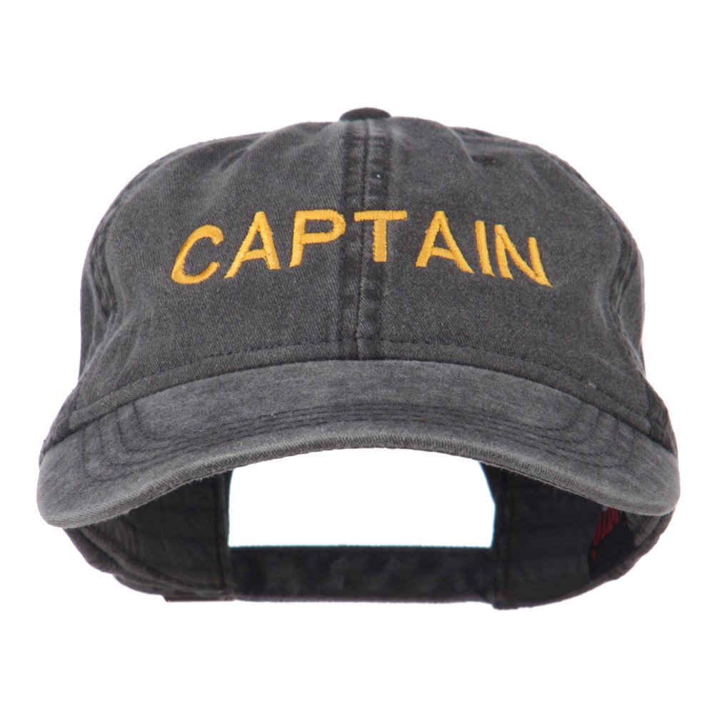e4Hats.com Captain Embroidered Low Profile Washed Cap