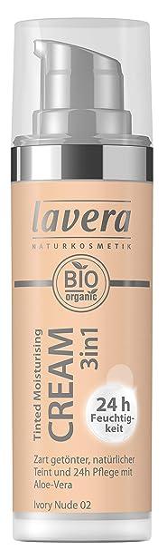 lavera Tinted Moisturising Cream 3in1 -Ivory Nude 02- Getönte Feuchtigkeitscreme ? Hautpflege und Farbe ? Vegan ? Naturkosmet