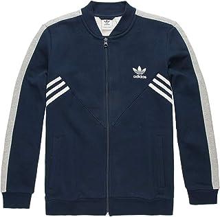adidas Originals Kids Boy's Zigzag Track Jacket (Little Kids/Big Kids) Collegiate Navy/Medium Grey Heather/White X-Large 31290220005