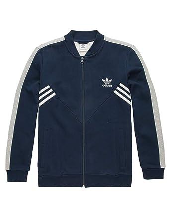 1d94f0845c1f adidas Originals Kids Boy s Zigzag Track Jacket (Little Kids Big Kids)  Collegiate Navy