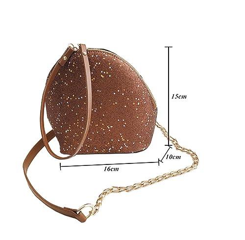 e5da75b97f412 Krstay Kette Tasche klein Umhängetasche Damen crossbody tasche casual  Schultertasche punkte Messenger bag retro verschleißfest (