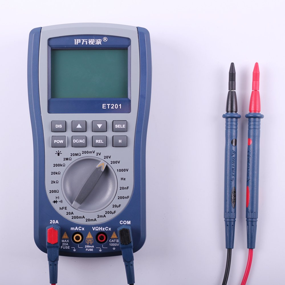 Multímetro digital con pantalla LCD OT Osciloscopio portátil de onda de señal