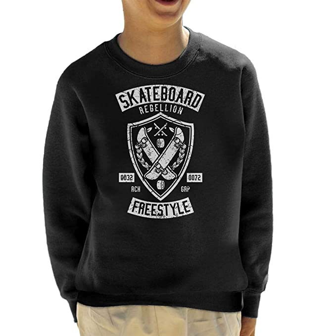 Coto7 Skateboard Rebellion Kids Sweatshirt: Amazon.es: Ropa y accesorios