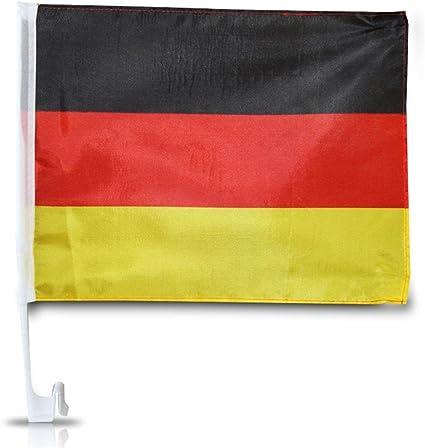 Autofahne Deutschland Auto Fahne 45x30cm Mit Breitem Stab Für Das Autofenster Schwarz Rot Gold Sport Freizeit