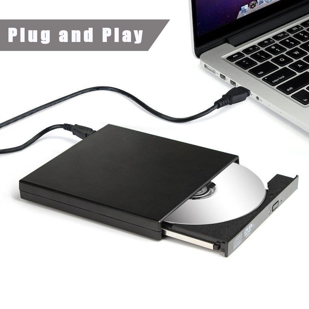 External CD DVD Drive, Sunreal External Optical Drive USB 2.0 DVD/CD Player Portable Slim High Speed Data Transfer DVD Drive for PC Computer Laptop Desktops with Windows Mac OS(Black) by Sunreal (Image #6)