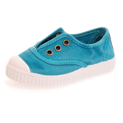 77926ecf90cc72 Cienta Kids Canvas Slip On Sneakers For Girls and Boys - Turquoise