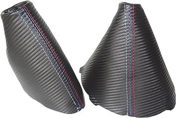 For BMW E90 E91 E92 E93 2005-2013 Shift /& E brake Boot White Genuine Leather