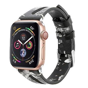 DKEnjoy - Correa de Repuesto de Piel para Reloj Apple Watch ...
