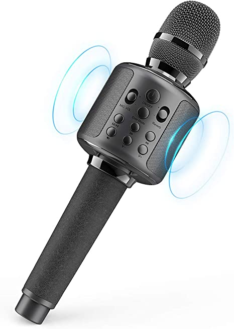 Micrófono Karaoke con altavoz Bluetooth, control Echo, Duet ...