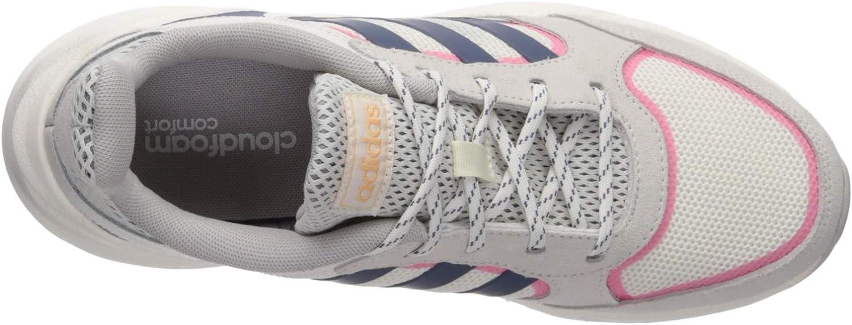 adidas 90s Valasion Chaussures de Sport pour Femme Cloud White Tech Ink Real Pink