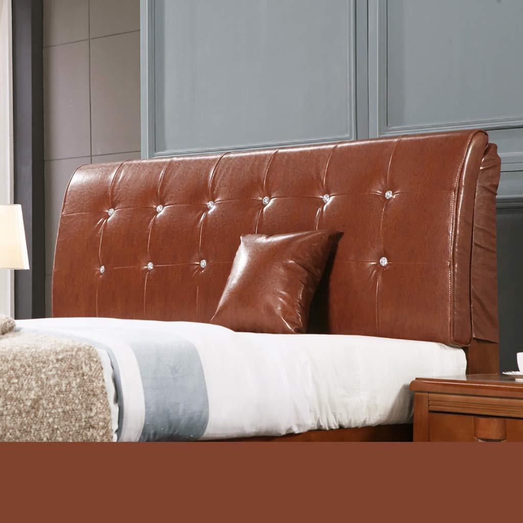 ベッド背もたれクッションベッドクッションベッドサイド枕とヘッドボード レザー大型ソフトピローランバーサポート取り外し可能なマルチカラーとマルチサイズ (Color : Light coffee, Size : 90*58cm) B07SS2L6PL Light coffee 90*58cm