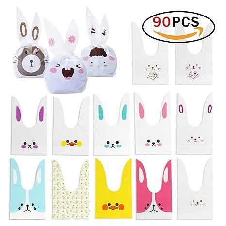 9a2c46758 Bolsa de Regalo,JER Bolsa de Caramero Galleta Piscolabis de Conejo, Bolsas  Plástico Pascua