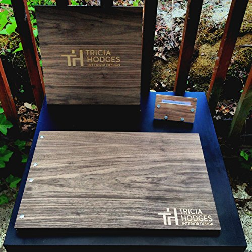 Business Pro Set - Any Wood Type, Business Card Holder, & 12'' x 12'' Signage by Infused Motif