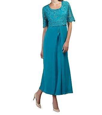 1eeecd71f4dd65 ShineGown Bodenlang Brautmutterkleider Abendkleider Festliche Kleider  Partykleider Abschlussball Kleider mit Kurzarm: Amazon.de: Bekleidung