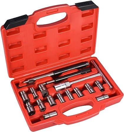 17 Tlg Diesel Injektor Auszieher Werkzeug Set Injektoren Reiniger Einspritzdüsen Abzieher Auto