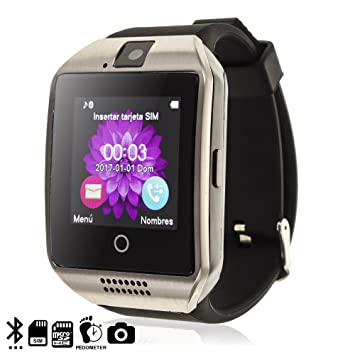 TEKKIWEAR. DMV085SILVER. Smartwatch Q18. Compatible iPhone Y ...