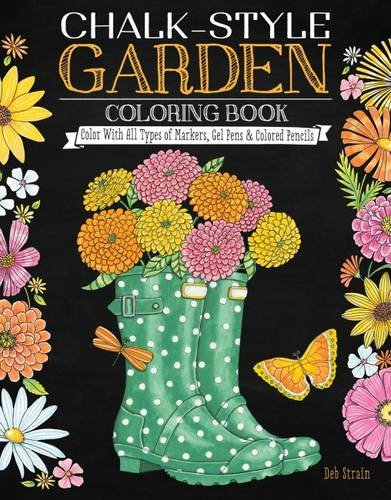 Chalk Style Garden Coloring Book Markers product image
