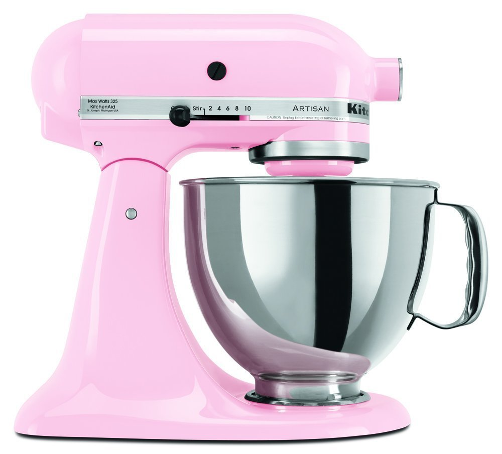 KitchenAid KSM150PSPK Artisan Series 5-Qt. Stand Mixer with Pouring Shield - Pink (Discontinued) by KitchenAid (Image #1)