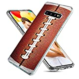 Samsung Galaxy S10 Case,CHICHIC Slim Flexible Soft TPU Silicone Protective Phone Case Cover with Cute Art Design for Samsung Galaxy S10,Funny Sports Design Brown Football