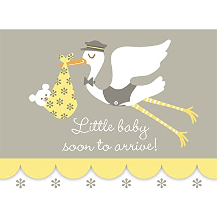 Amazon stork baby shower invitations toys games stork baby shower invitations filmwisefo