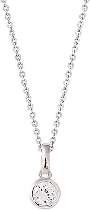XENOX Damen Collier Silver Circle Silber weiß Zirkonia 45 cm XS7175