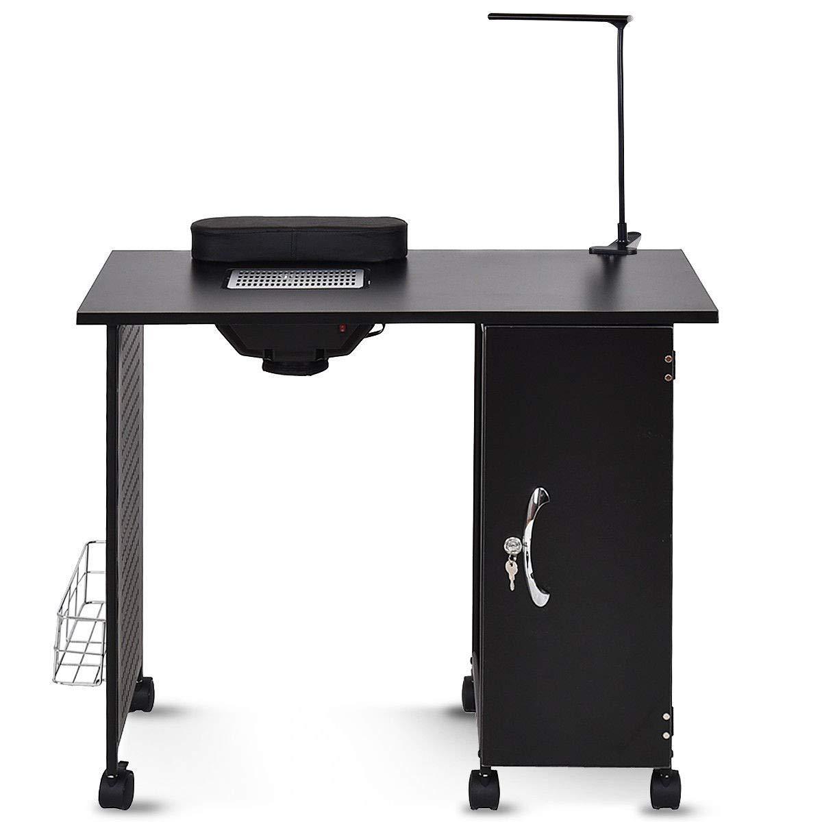 Manicure Table Nail Art Table Nail Station Desk Beauty Salon Steel Nail Equipment
